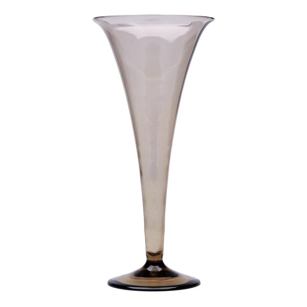 MURANO MVM CAPPELLIN SOFFIATI GLASS TRUMPET VASE c.1925 Circa 1925