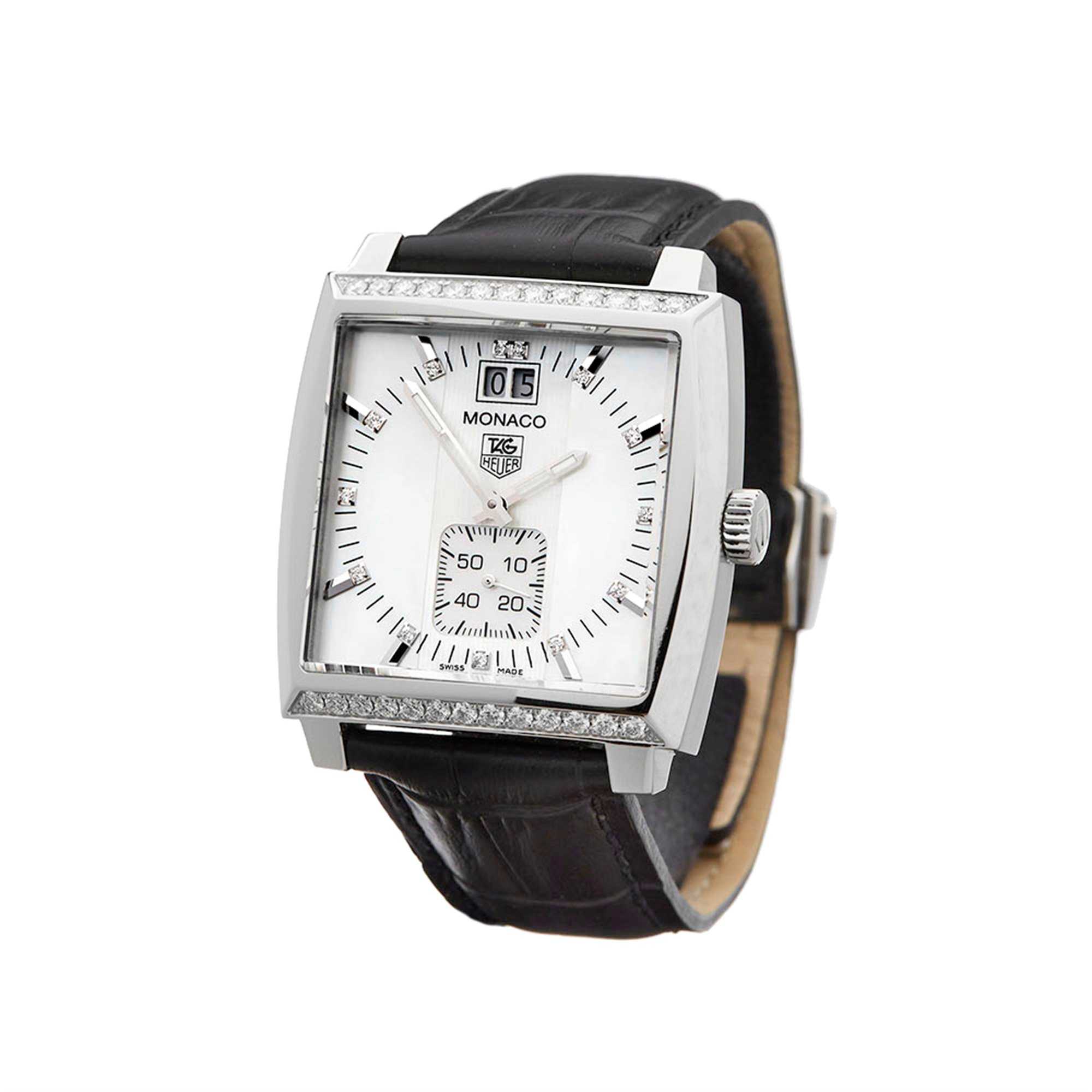 Tag Heuer Monaco Diamond Stainless Steel WAW1313