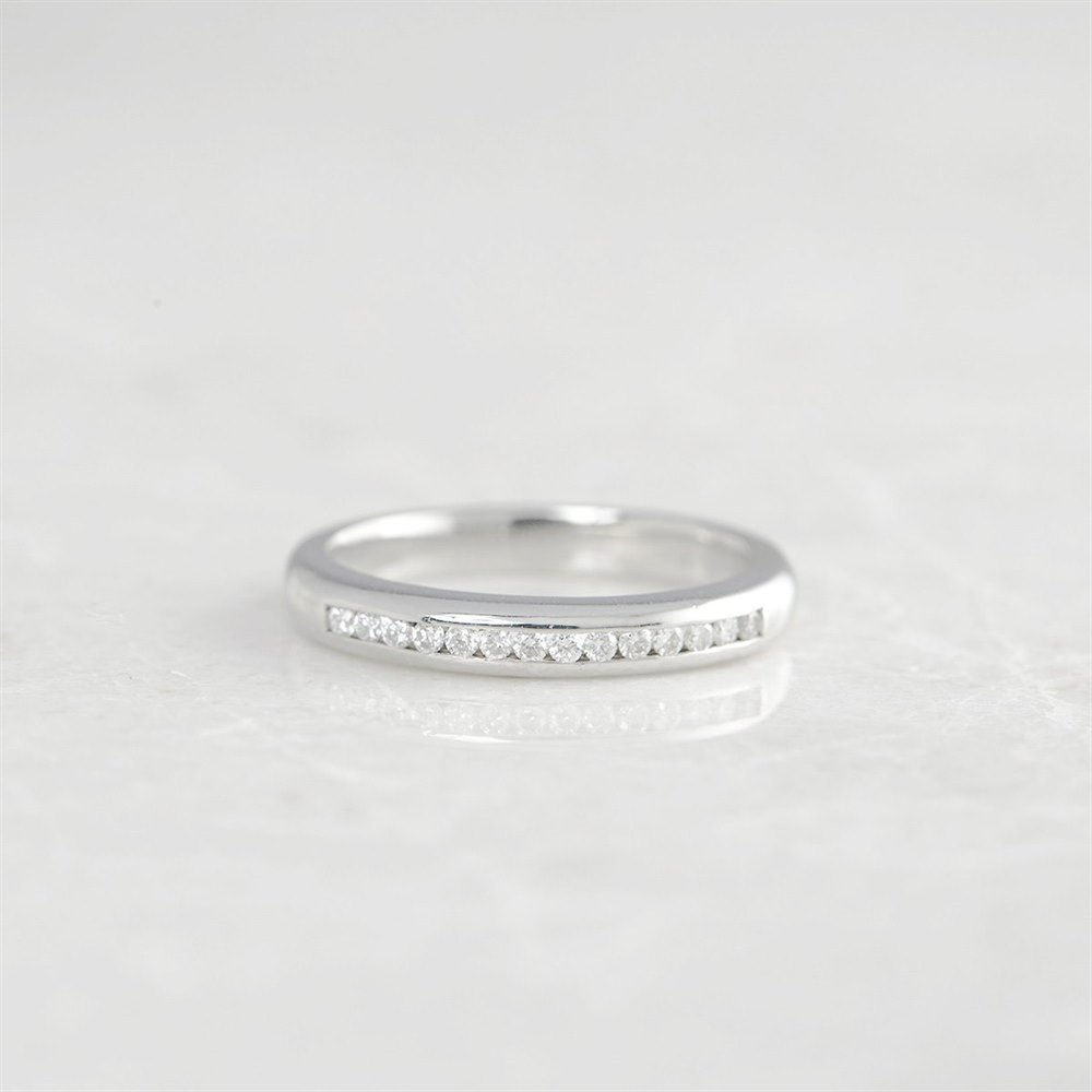 Boodles Platinum Half Eternity 0.30ct Diamond Ring