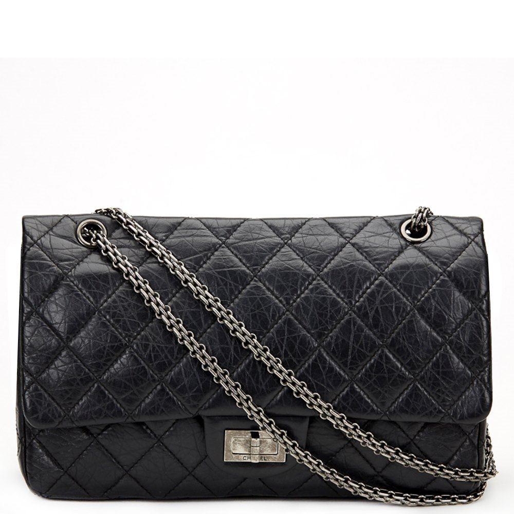 2af00d7075b7e5 Chanel 2.55 Reissue 227 Double Flap Bag 2012 HB674 | Second Hand ...