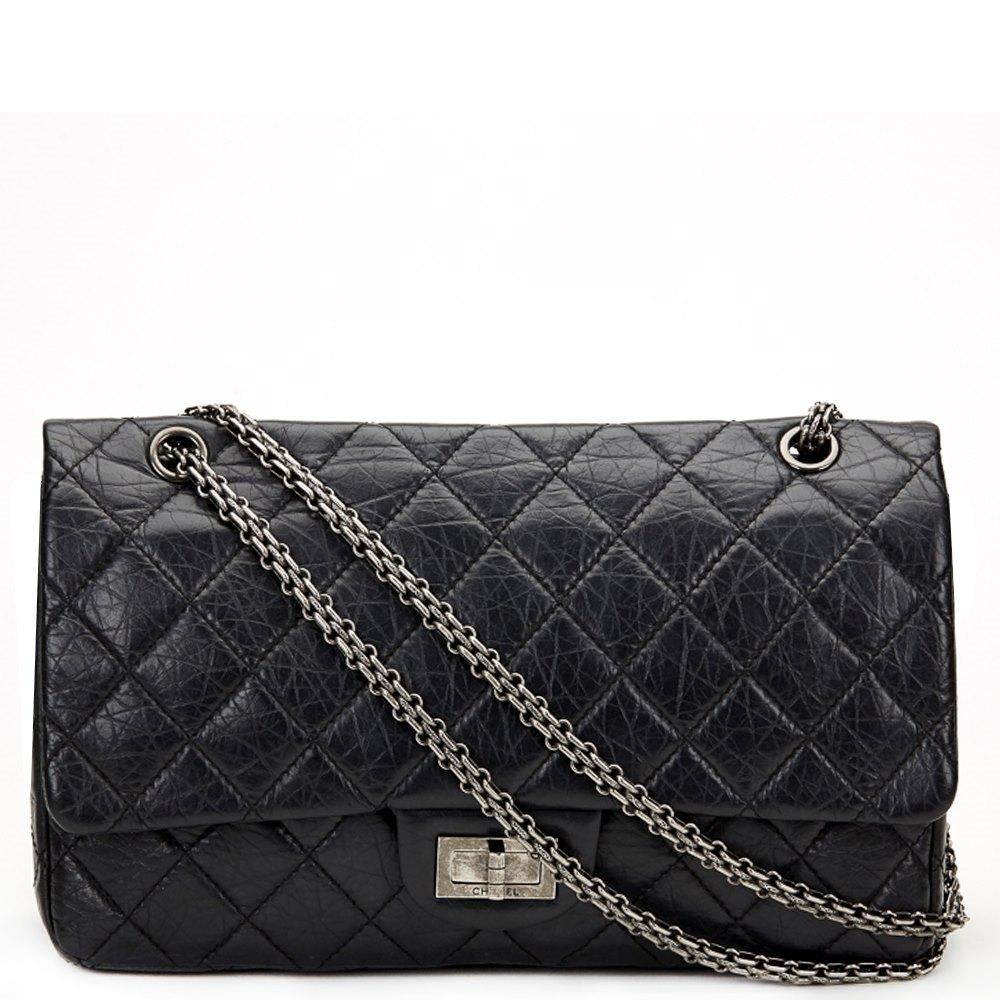 eff85bce9d07 Chanel 2.55 Reissue 227 Double Flap Bag 2012 HB674 | Second Hand ...