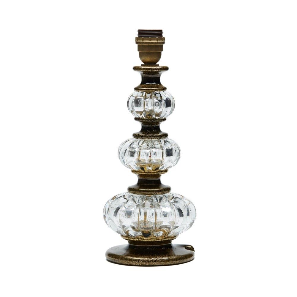 ARCHIMEDE SEGUSO MURANO ART GLASS LAMP BASE c.1960 Circa 1970