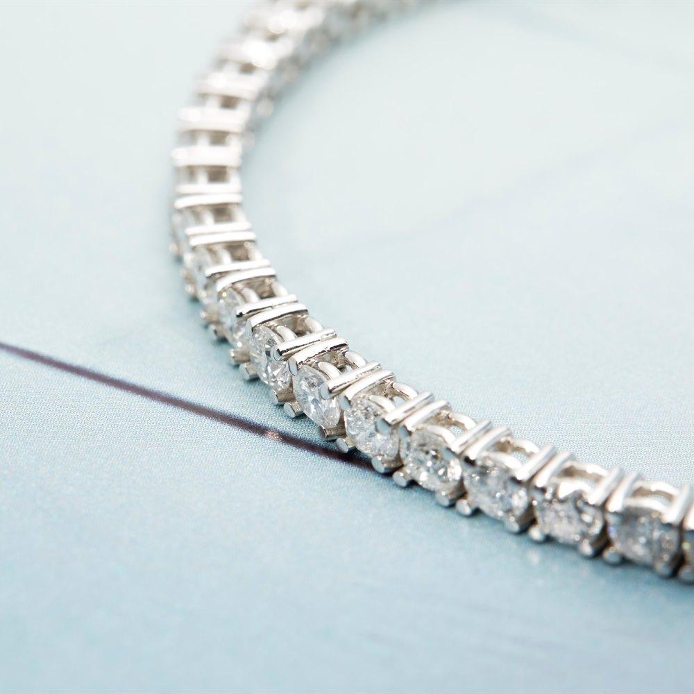 18k White Gold 18k White Gold 8.50ct Diamond Tennis Bracelet