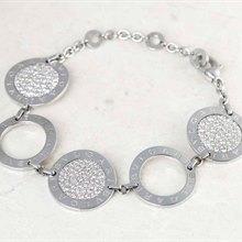 Bulgari Bulgari 18k White Gold Diamond Bracelet