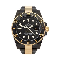 Rolex Submariner Hercules Custom Gold/DLC 40mm Dlc Coated Stainless Steel & 18K Yellow Gold - 116613LN