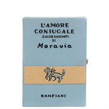 Olympia Le-tan Blue Fabric L'Amore Coniugale Book Clutch