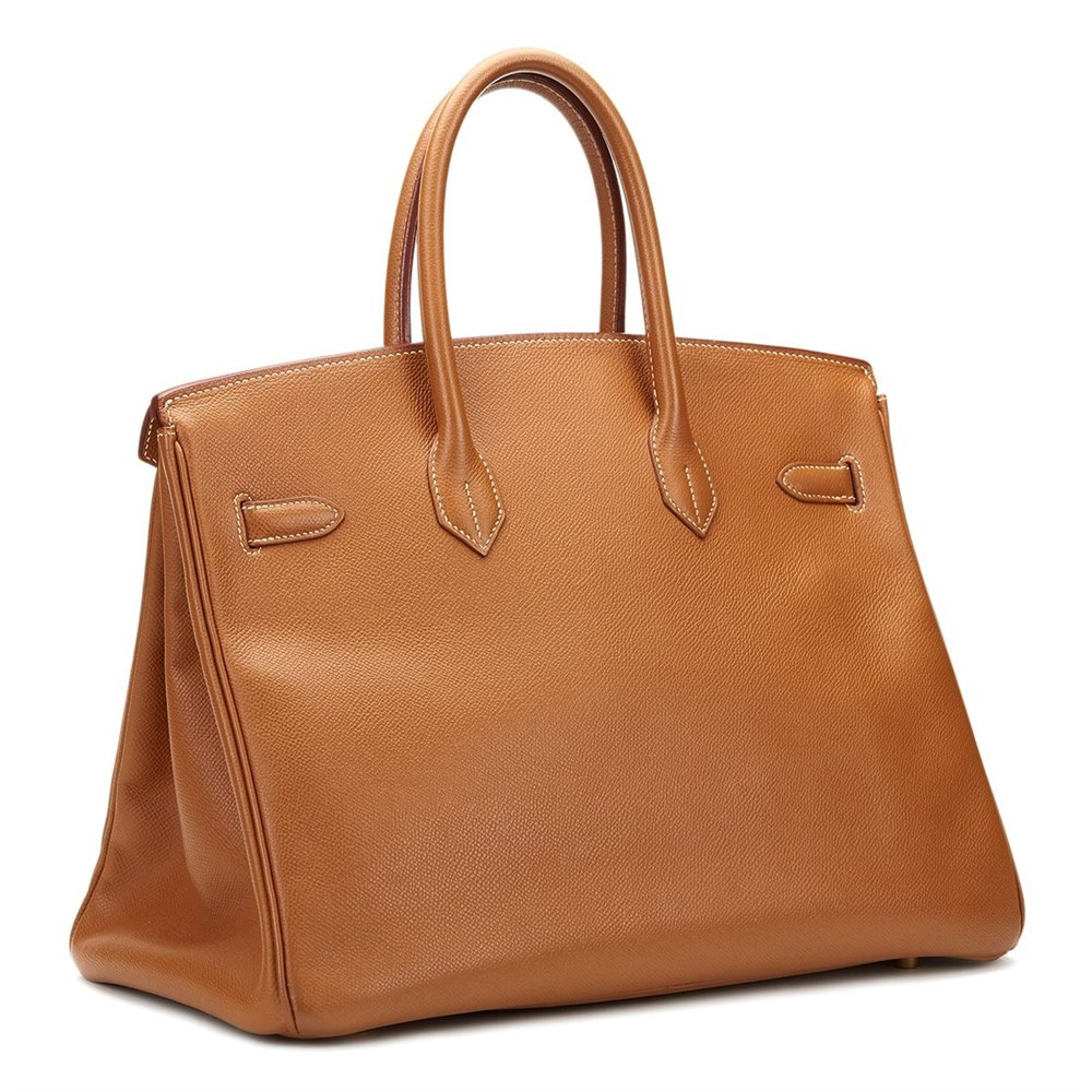Hermès Gold Courchevel Leather Birkin 35cm