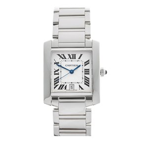 Cartier Tank Francaise 28mm 18K White Gold - 2366 or W50011S3