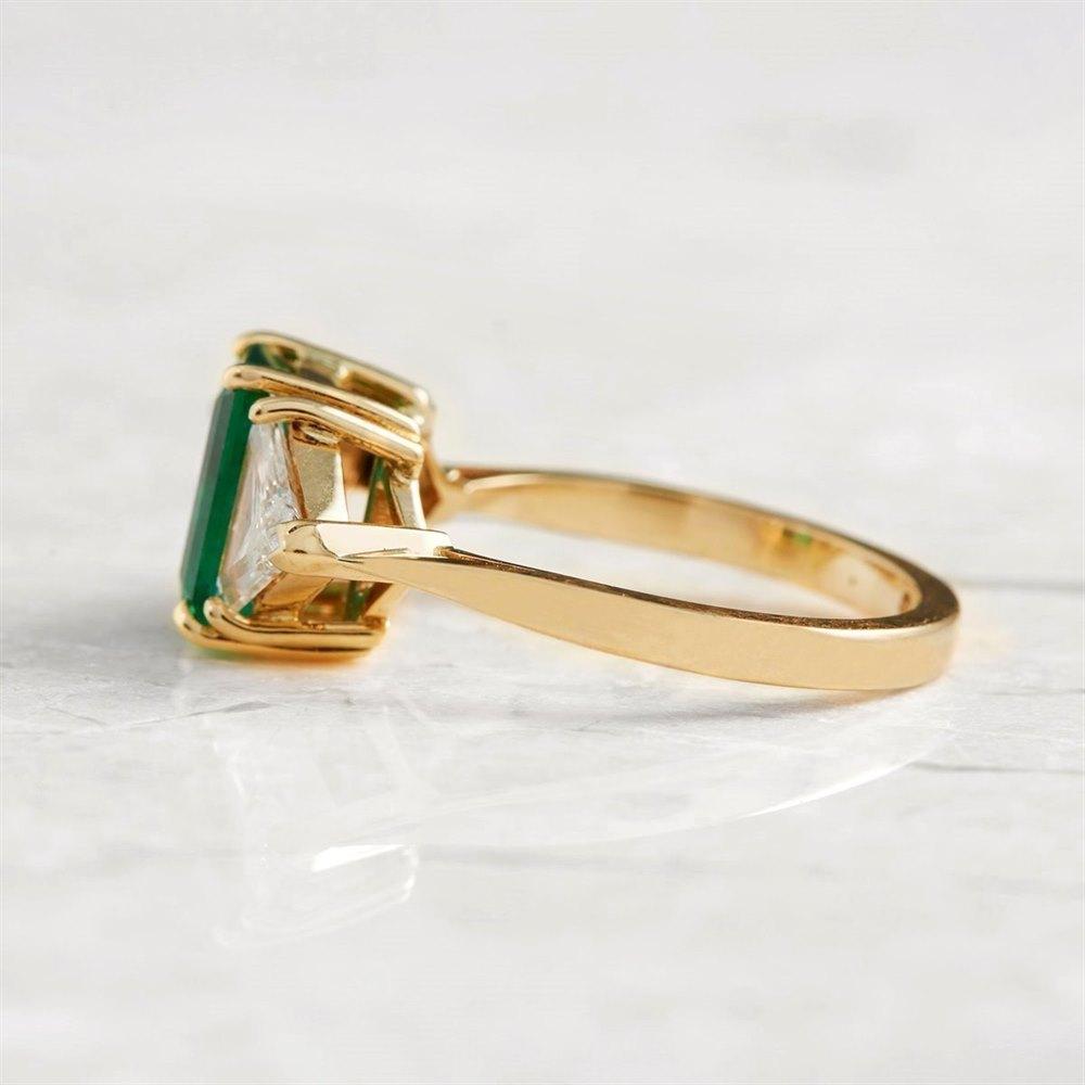Emerald 18k Yellow Gold 1.25ct Emerald & 1.00ct Diamond Ring