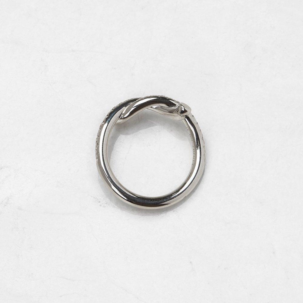 Cartier 18k White Gold 0.32ct Diamond Entrelacés Ring