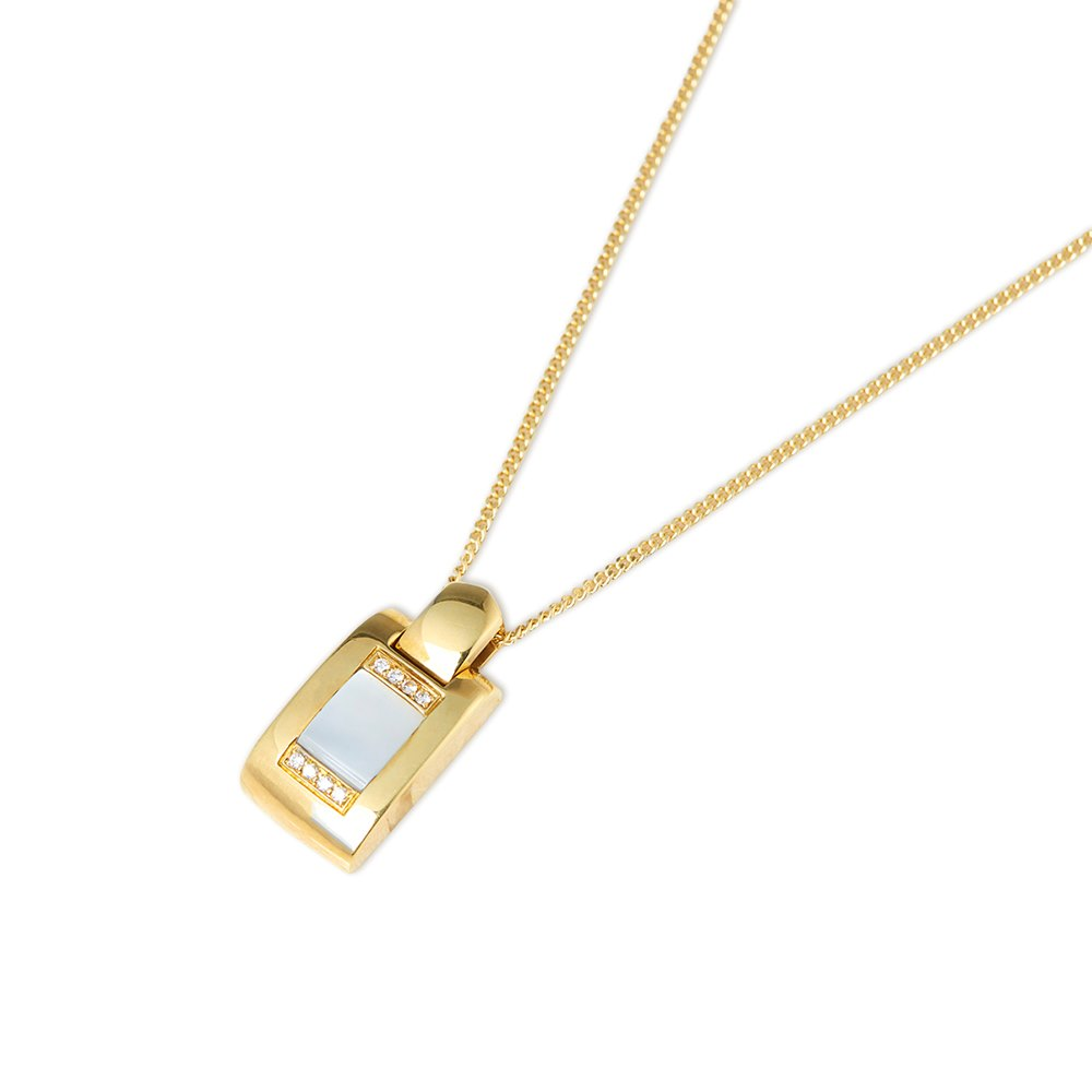 Audemars Piguet 18k Yellow Gold Mabe Pearl & Diamond Pendant Necklace