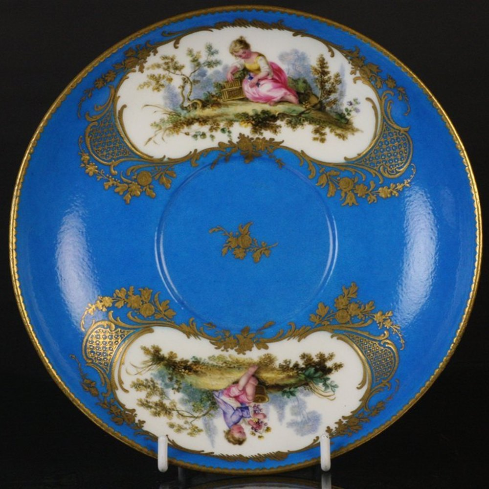 Sevres Hand Painted Plate Date mark for 1767