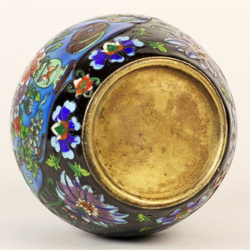 Cloisonne Lidded Jars Circa 1900 but may be slightly later