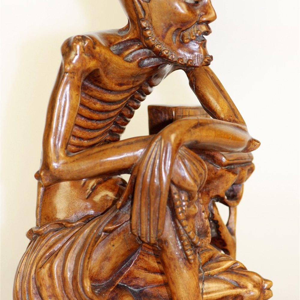 D ca x cm carved boxwood carving figurine netsuke owl ebay