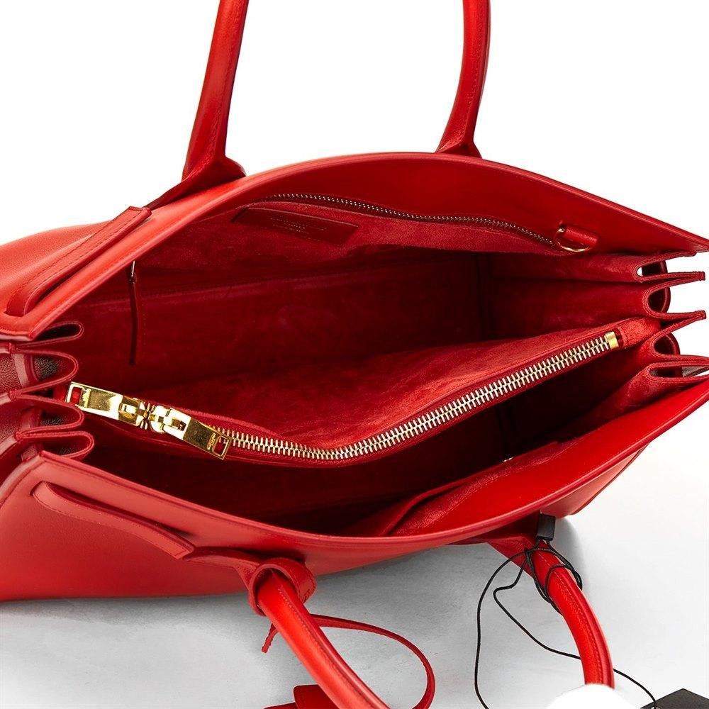 3c0083fcf9da Saint Laurent Lipstick Red Calfskin Classic Small Sac De Jour