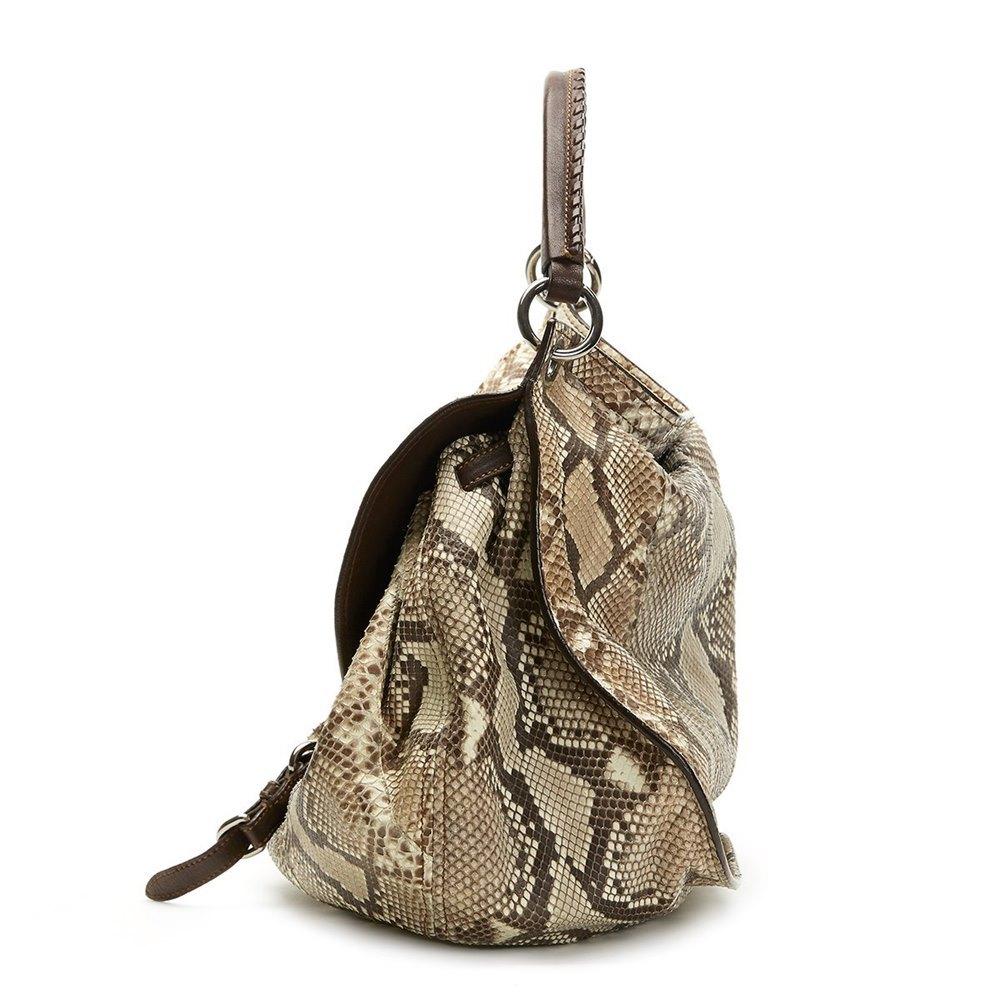 Miu Miu Python Leather Aviator Hobo Bag