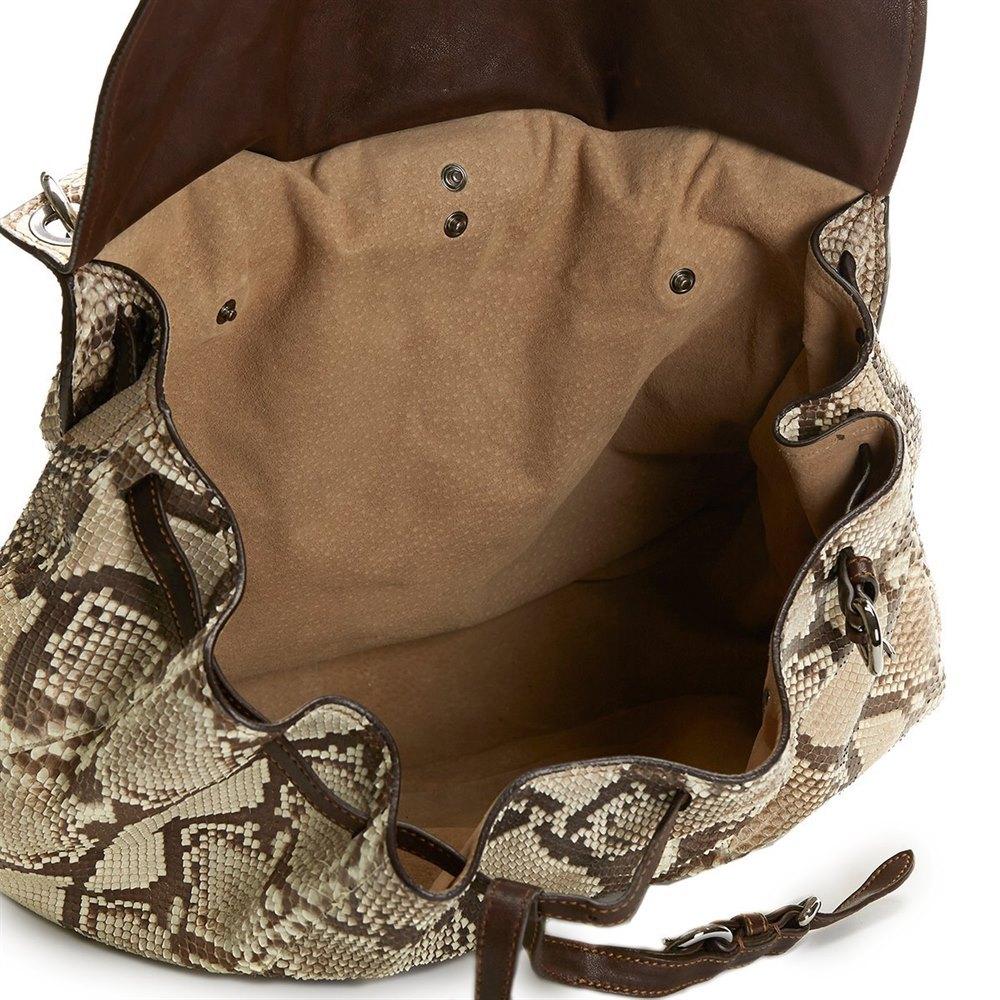 5fe038cd7e94 Miu Miu Python Leather Aviator Hobo Bag