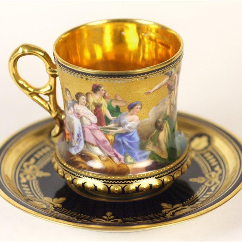 Vienna Abduction Cup & Saucer Circa 1880