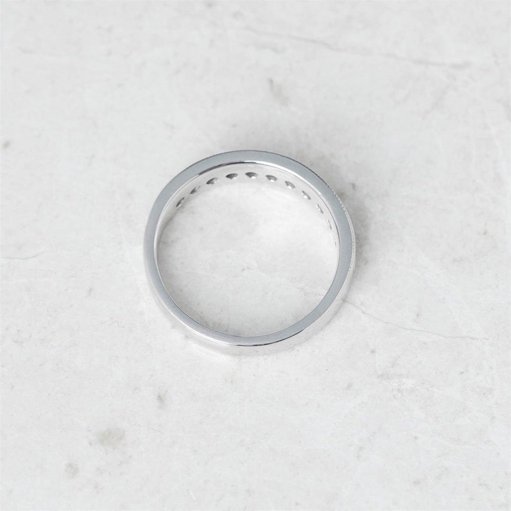 Diamond 14k White Gold Round Brilliant Cut 0.50ct Diamond Half Eternity Ring