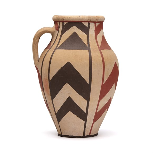 NATIVE PAINTED STUDIO POTTERY VASE SIGNED 20TH C.