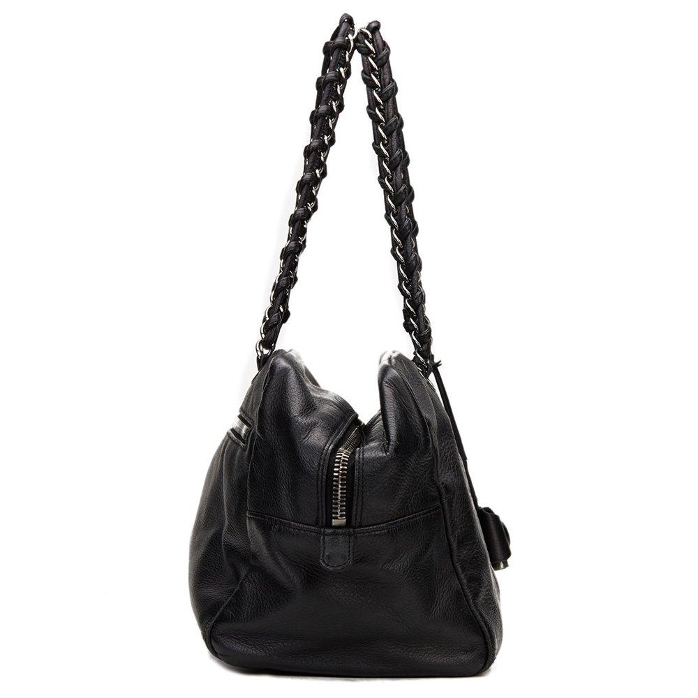 Chanel Black Calfkskin Bowling Bag