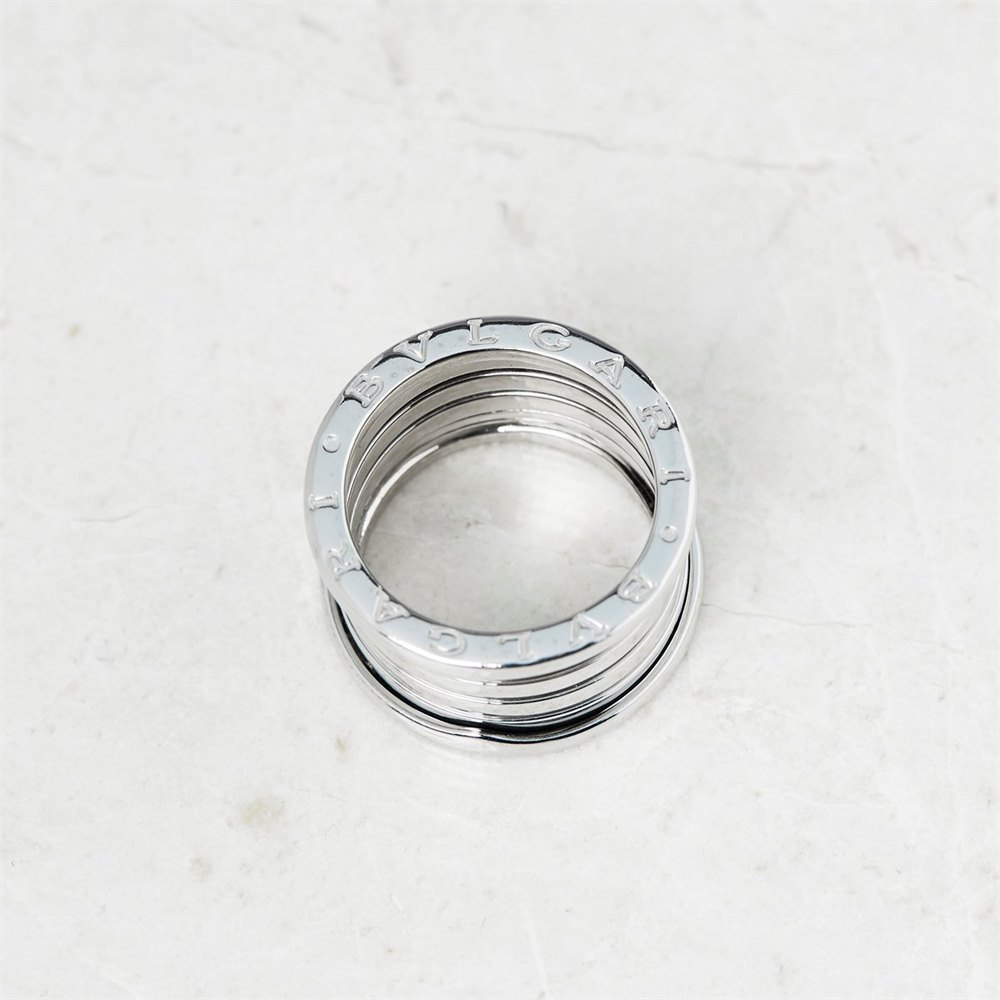 Bulgari 18k White Gold Four Row B.Zero 1 Ring