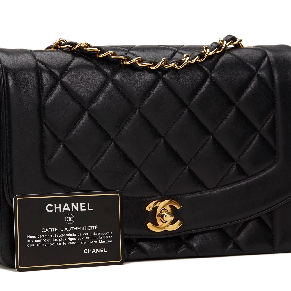 chanel diana classic single flap bag 1993 hb800 second hand handbags. Black Bedroom Furniture Sets. Home Design Ideas