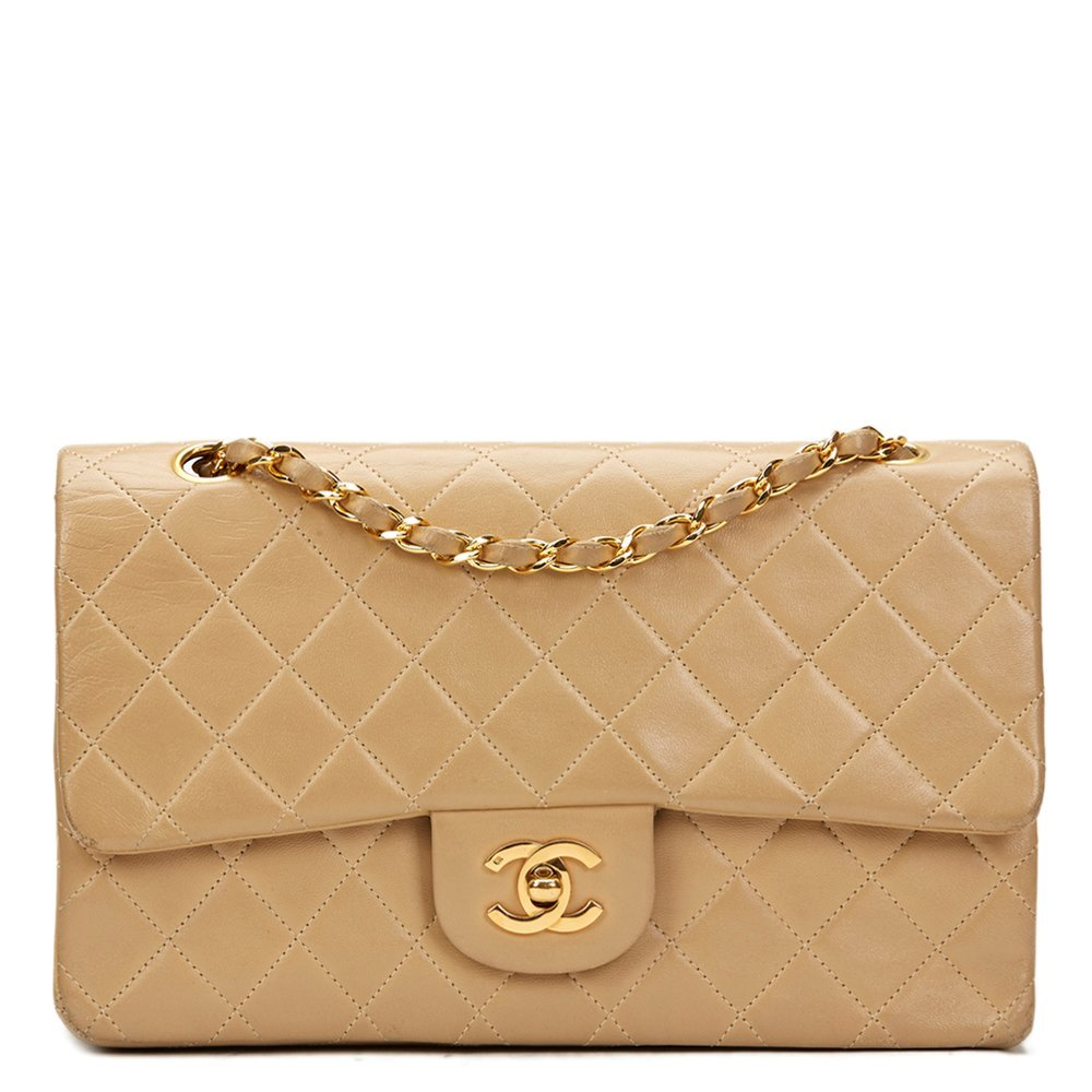 d5e55606d35760 Chanel Medium Classic Double Flap Bag 1990 HB807 | Second Hand Handbags