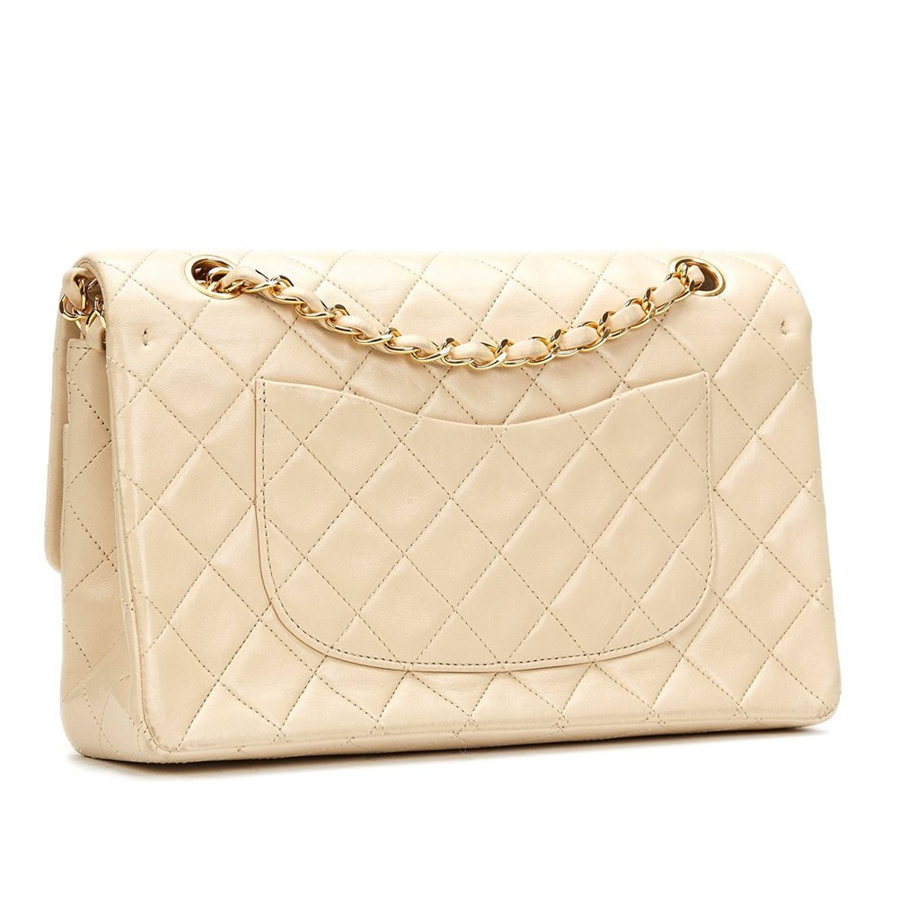 Chanel Ivory Quilted Lambskin Vintage Medium Classic Double Flap Bag 187ce951dbfe2