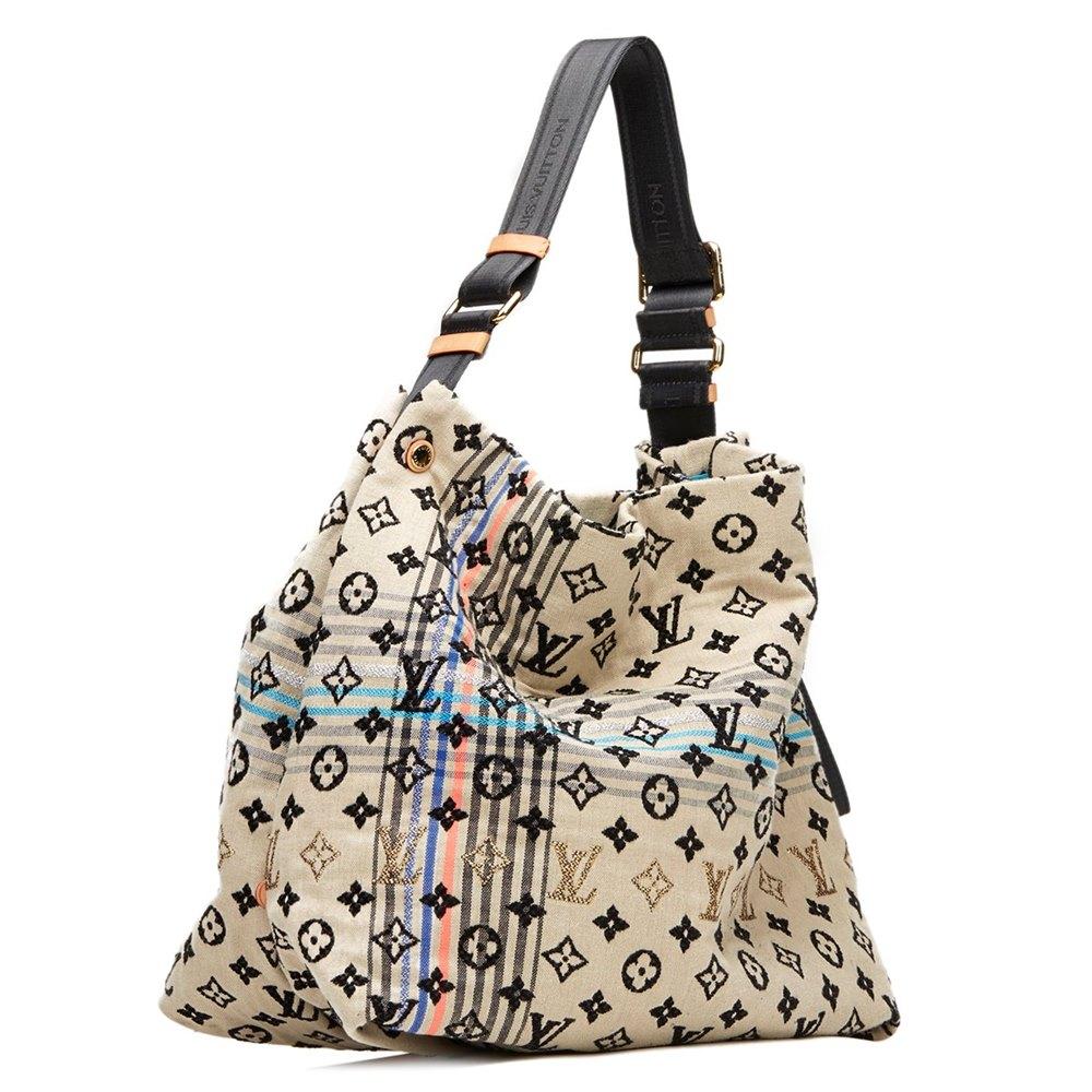 d1dd4e8dafbd Louis Vuitton Multi Jacquard Fabric Blue Monogram Cheche Bohemian Bag