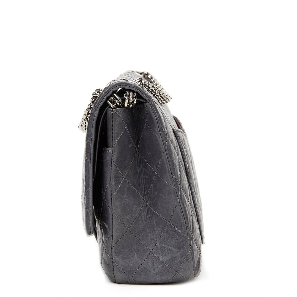 ee635fe7a94f4f Chanel Grey Quilted Calfskin 50th Anniversary 2.55 Reissue 226 Double Flap  Bag