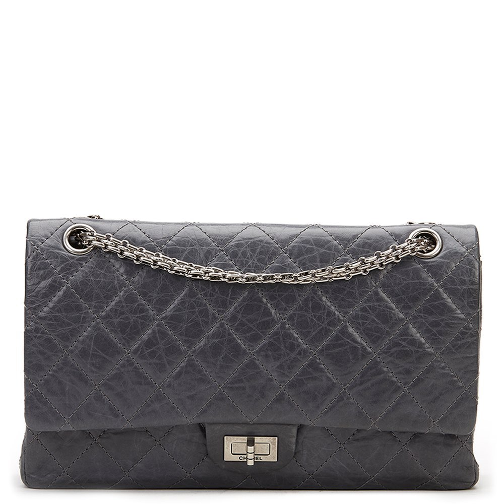 fa1e66d9261ec8 Chanel Grey Quilted Calfskin 50th Anniversary 2.55 Reissue 226 Double Flap  Bag