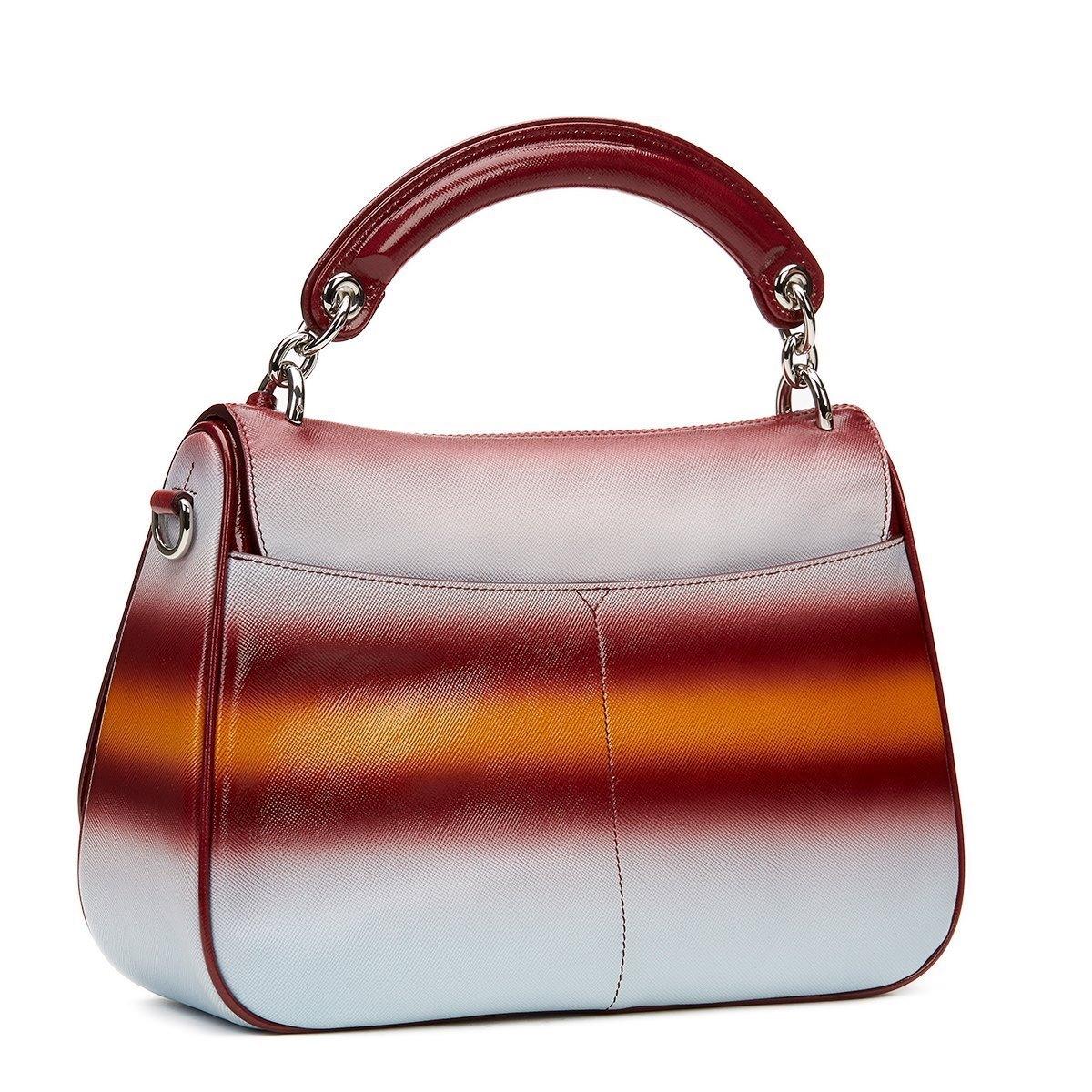 Dior Maroon Mustard And Blue Gradient Grained Calfskin Dune Bag 2015s sjBYp