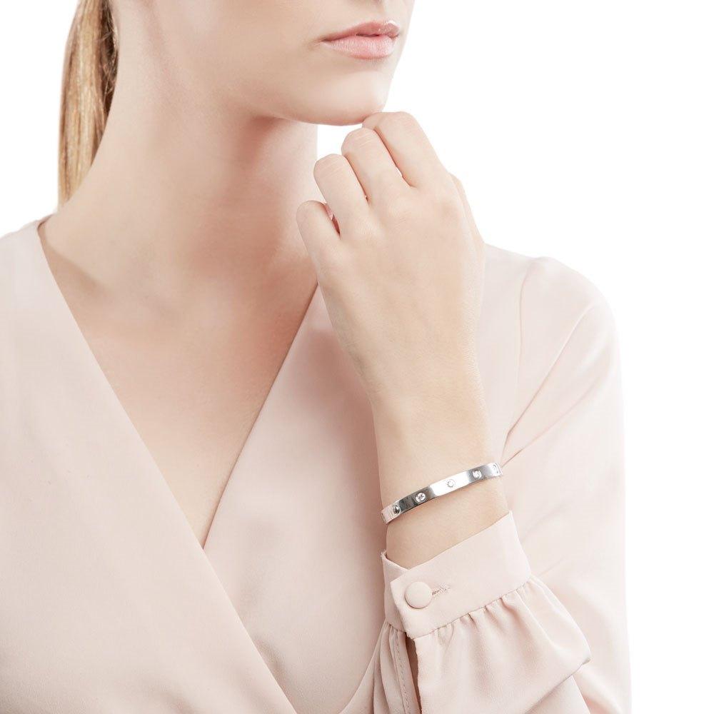 Cartier 18k White Gold 10 Diamond Love Bracelet B6040717