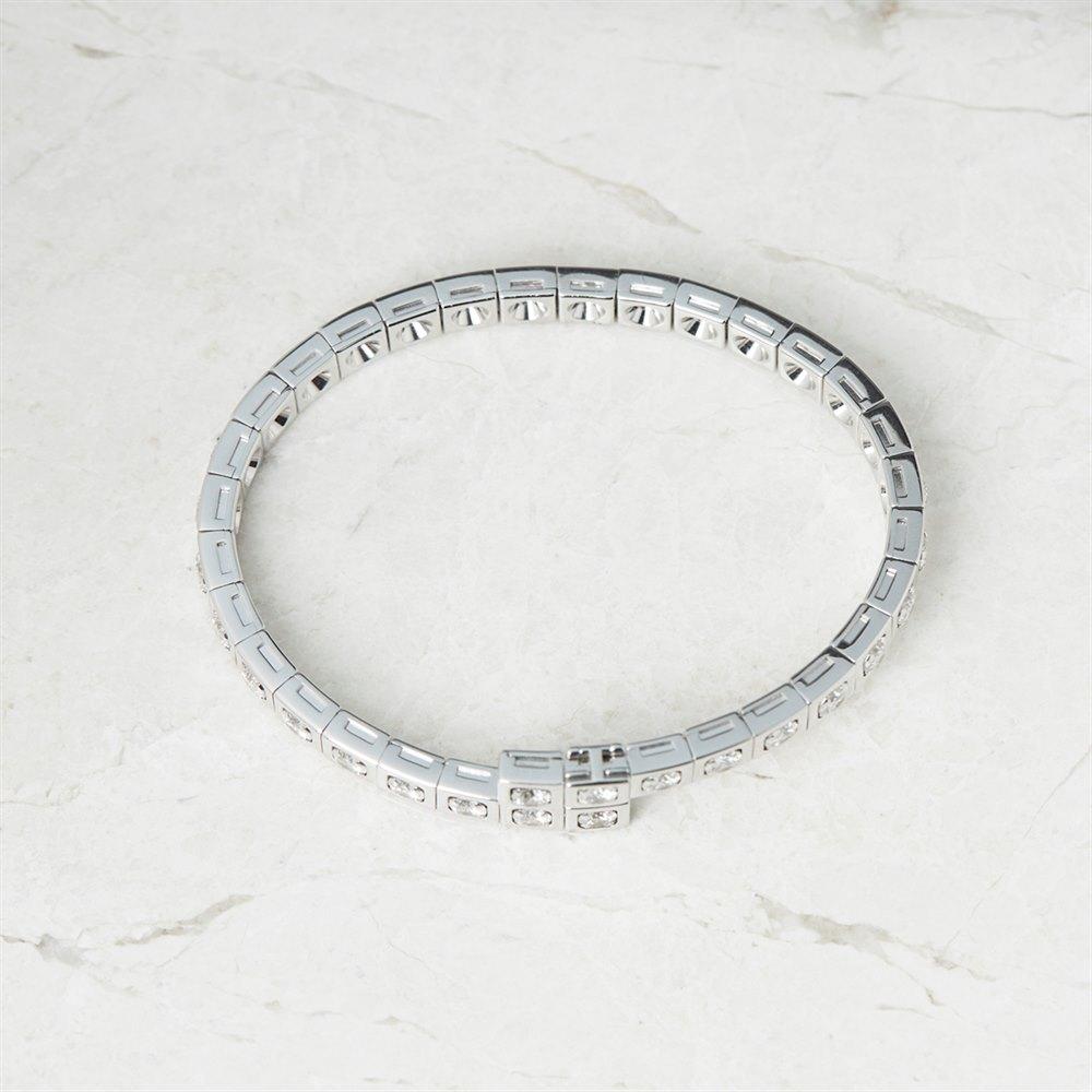 Cartier 18k White Gold 6.00ct Diamond Tectonique Bracelet