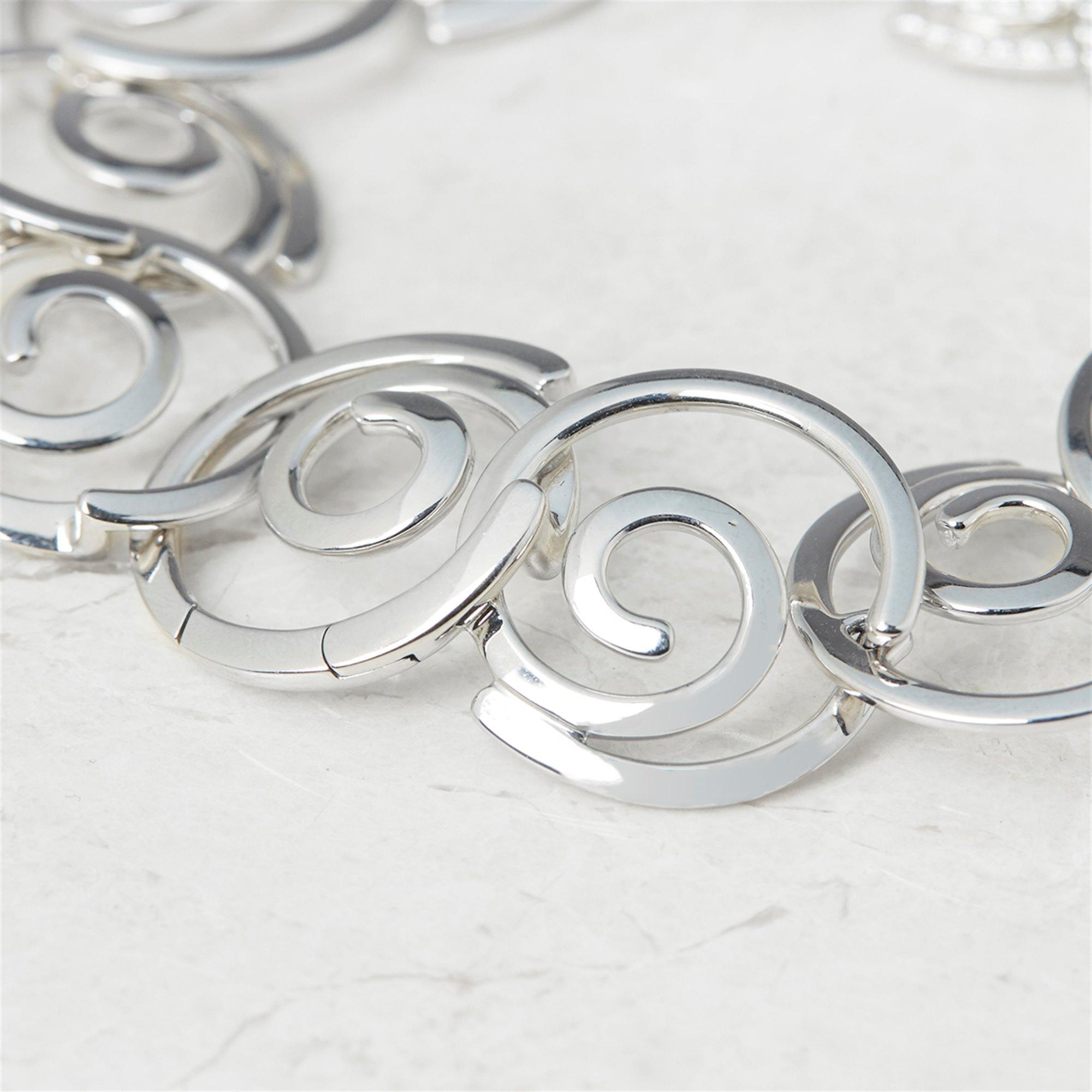 Breguet 18k White Gold Diamond Circle Link Bracelet