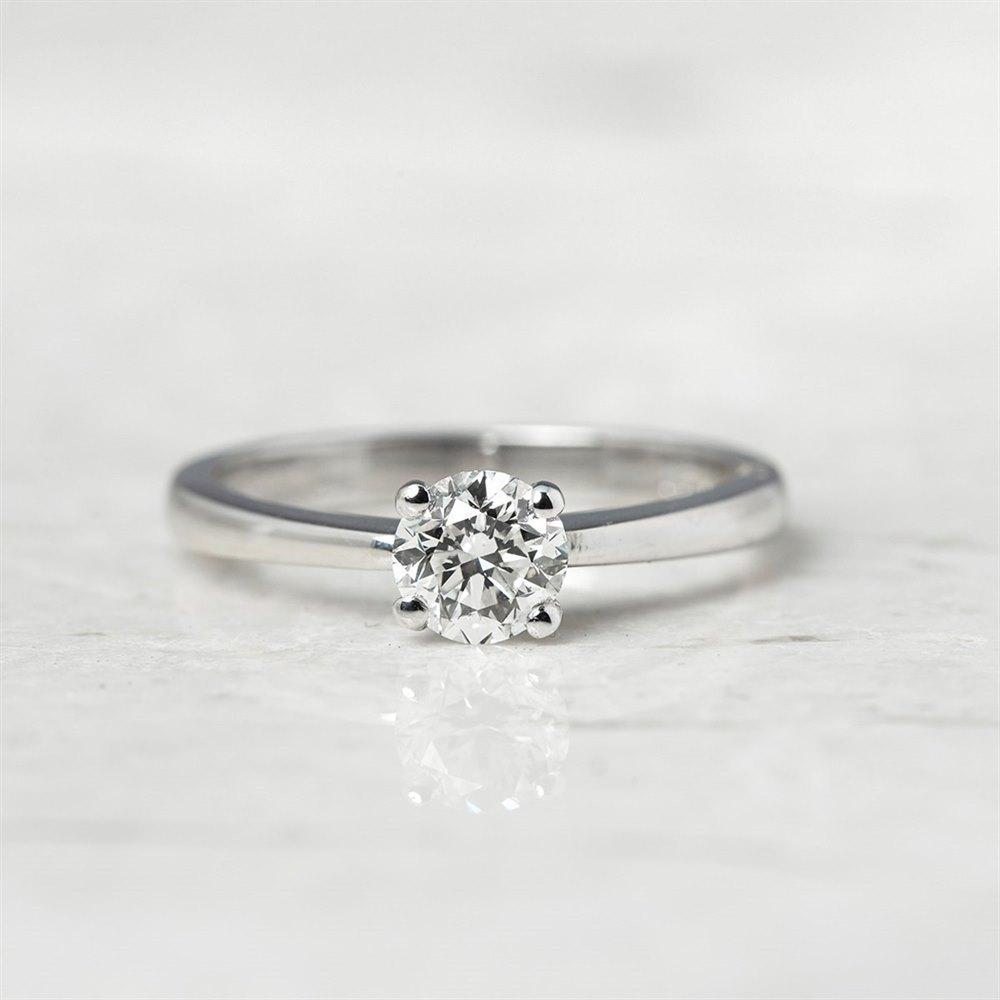 Diamond  18k White Gold Round Brilliant Cut 0.64ct Diamond Ring