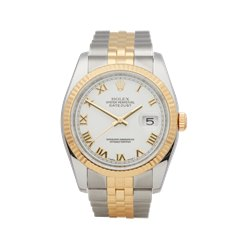 Rolex Datejust 36mm Stainless Steel & 18K Yellow Gold - 116233