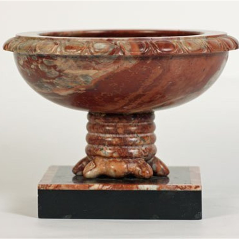 Grand Tour Pink Marble Pedestal Dish 19th Century