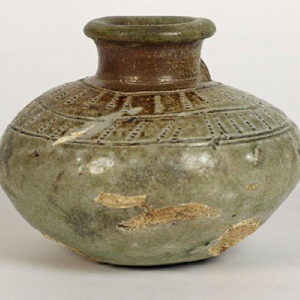 Thai Swankhalok Pottery Jar Dates from the 15/16th Century