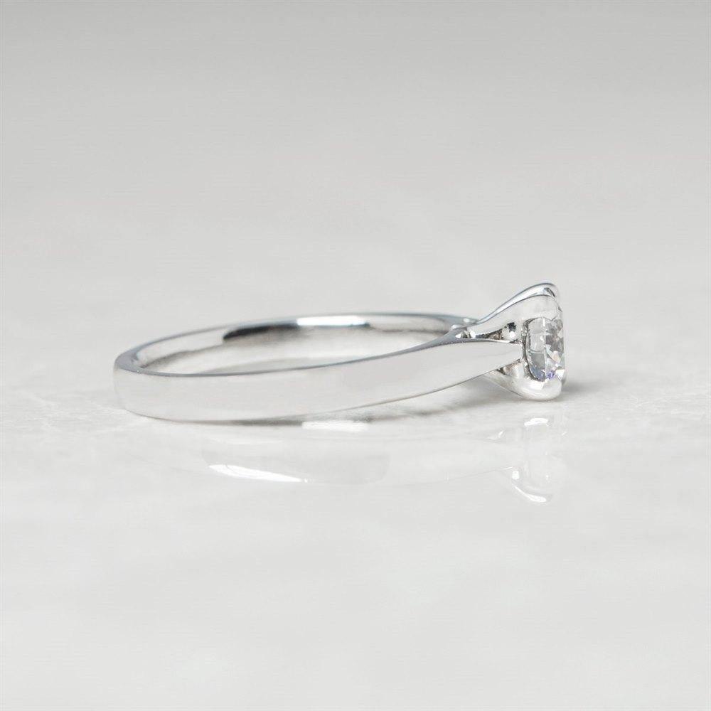 Platinum, total weight - 4.30 grams  Platinum Round Brilliant Cut 0.50ct Diamond Engagement Ring