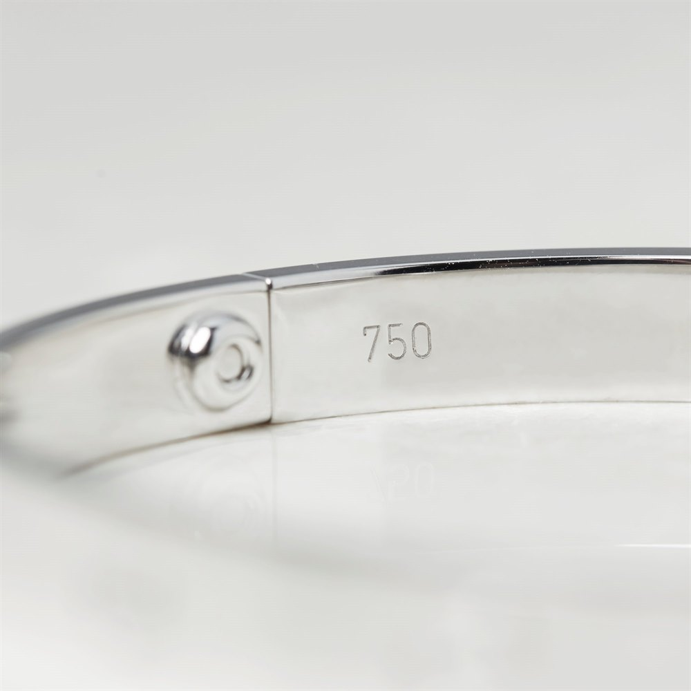 Cartier 18k White Gold Love Bangle B6035418 Size 18