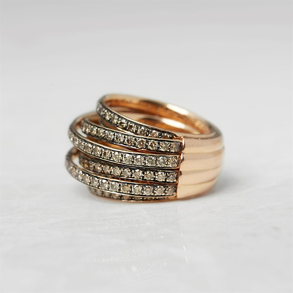 De Grisogono 18k Rose Gold 5.44ct Diamond Allegra Ring