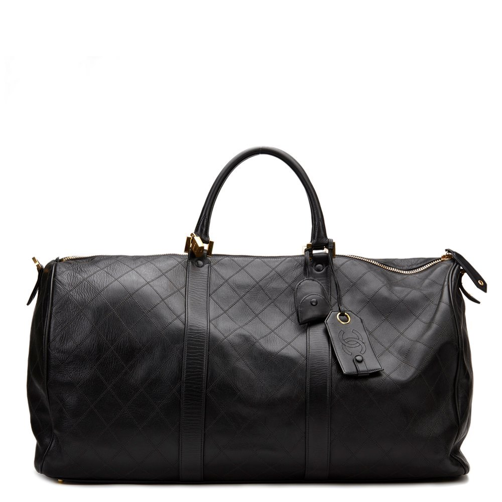 5d639899ae8de8 Chanel Boston Travel Bag 1991 HB882   Second Hand Handbags   Xupes