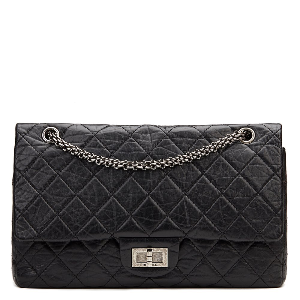 697a33e922f443 Chanel 2.55 Reissue 227 Double Flap Bag 2008 HB886 | Second Hand ...