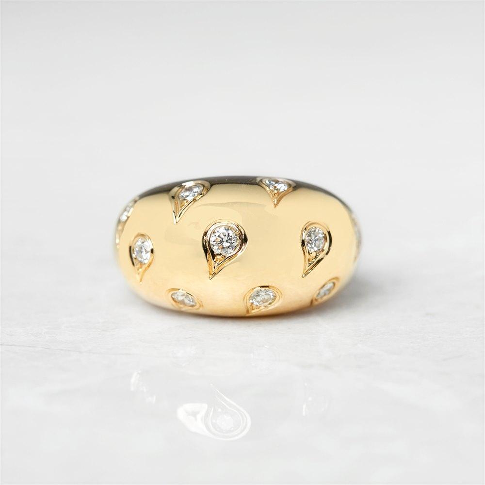 Cartier 18k Yellow Gold 1.00ct Diamond Bombe Ring
