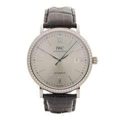 IWC Portofino Original Diamond Bezel 40mm 18K White Gold - IW356514