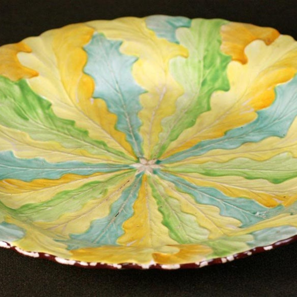 Davenport Painted Leaf Plate Mark dates the plate between c.1793 and 1810