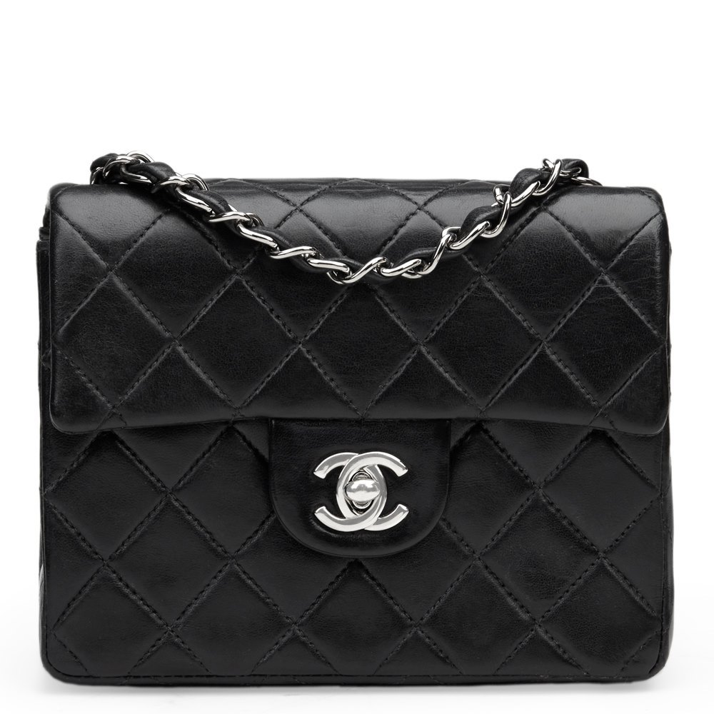 6ec056680bfc Chanel Black Quilted Lambskin Mini Flap Bag