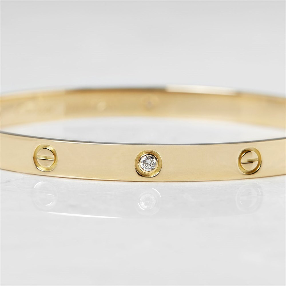Cartier 18k Yellow Gold 6 Diamond Love Bracelet B6026417